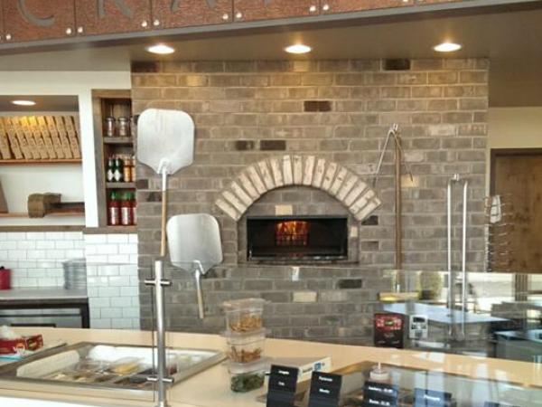 Revolving gas pizza oven 125