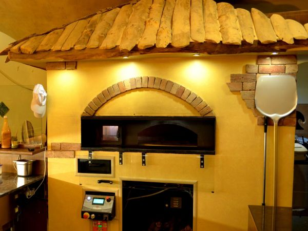 Revolving gas/wood-fired oven 105